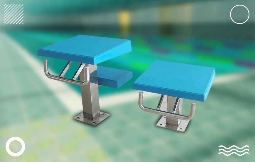 swimming pool starting block