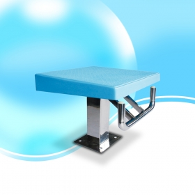 Pikes one step starting block for competition swimming pool