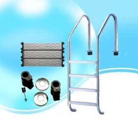 Factory Supply aluminum folding Swimming Pool Ladder
