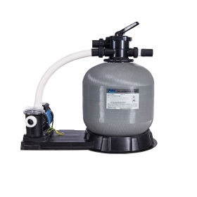 Top mount sand filter with pump combo