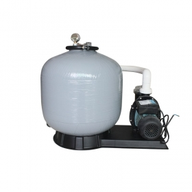 Side mount sand filter and pump